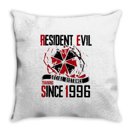 Social Distance Throw Pillow Designed By Pinkanzee