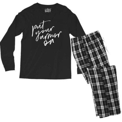 Armor On Men's Long Sleeve Pajama Set Designed By Pinkanzee