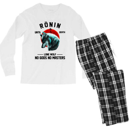 No Gods No Masters Men's Long Sleeve Pajama Set Designed By Pinkanzee