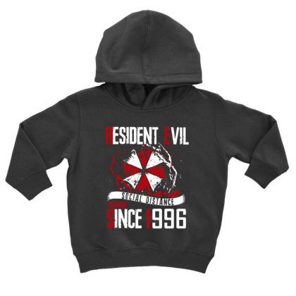 Social Distance Toddler Hoodie Designed By Pinkanzee