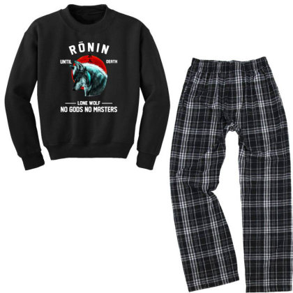 No Gods No Masters Youth Sweatshirt Pajama Set Designed By Pinkanzee