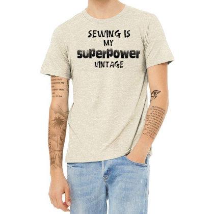 Superpower Vintage Heather T-shirt Designed By Pinkanzee
