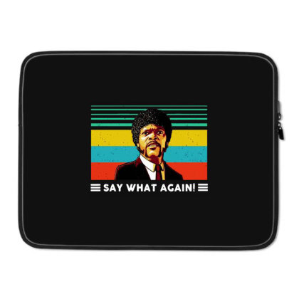 Say What Vintage Laptop Sleeve Designed By Pinkanzee