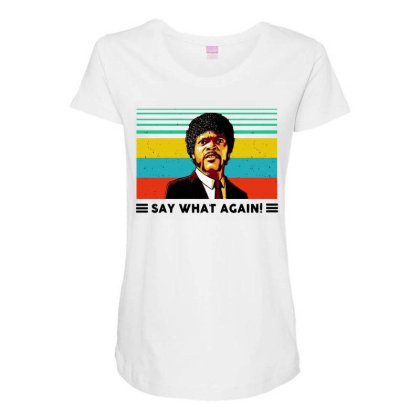 Say What Meme Maternity Scoop Neck T-shirt Designed By Pinkanzee