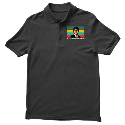 Say What Vintage Men's Polo Shirt Designed By Pinkanzee