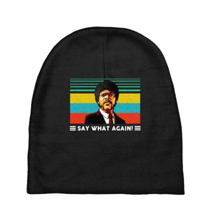 Say What Vintage Baby Beanies Designed By Pinkanzee