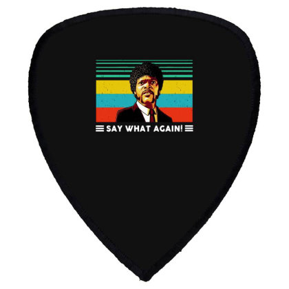Say What Vintage Shield S Patch Designed By Pinkanzee