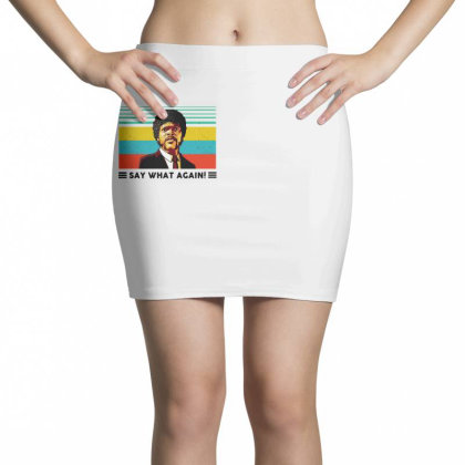 Say What Meme Mini Skirts Designed By Pinkanzee