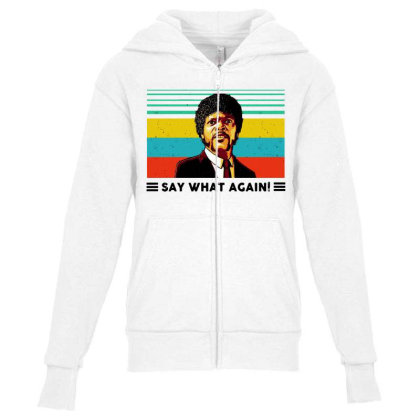 Say What Meme Youth Zipper Hoodie Designed By Pinkanzee