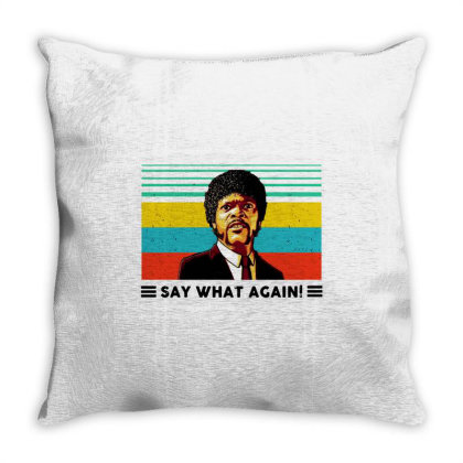 Say What Meme Throw Pillow Designed By Pinkanzee