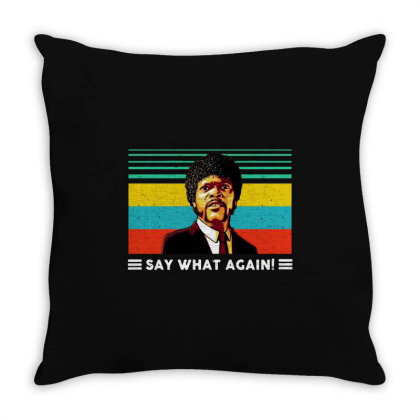 Say What Vintage Throw Pillow Designed By Pinkanzee