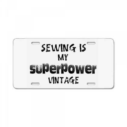 Superpower Vintage License Plate Designed By Pinkanzee