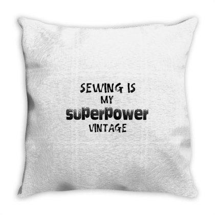 Superpower Vintage Throw Pillow Designed By Pinkanzee