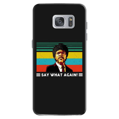 Say What Vintage Samsung Galaxy S7 Case Designed By Pinkanzee