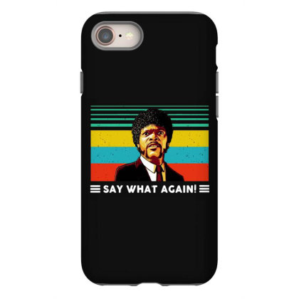 Say What Vintage Iphone 8 Case Designed By Pinkanzee