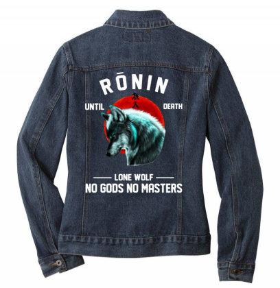 No Gods No Masters Ladies Denim Jacket Designed By Pinkanzee