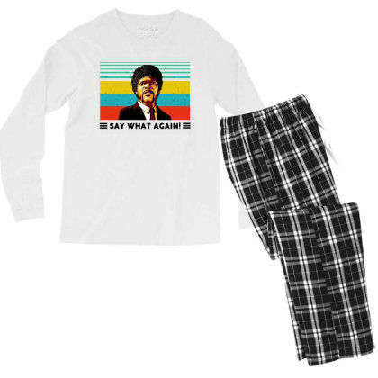 Say What Meme Men's Long Sleeve Pajama Set Designed By Pinkanzee