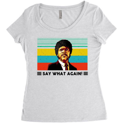 Say What Meme Women's Triblend Scoop T-shirt Designed By Pinkanzee