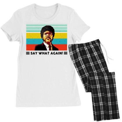 Say What Meme Women's Pajamas Set Designed By Pinkanzee