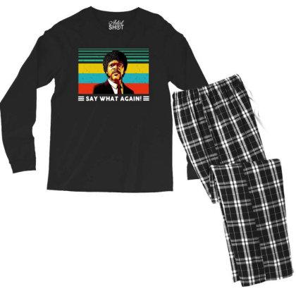 Say What Vintage Men's Long Sleeve Pajama Set Designed By Pinkanzee
