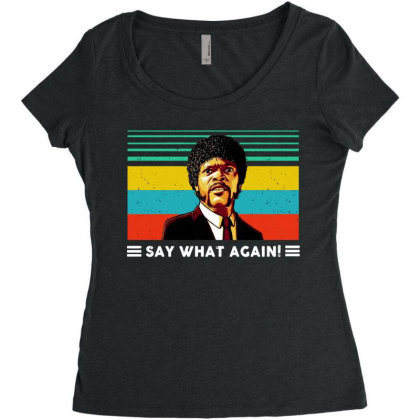 Say What Vintage Women's Triblend Scoop T-shirt Designed By Pinkanzee