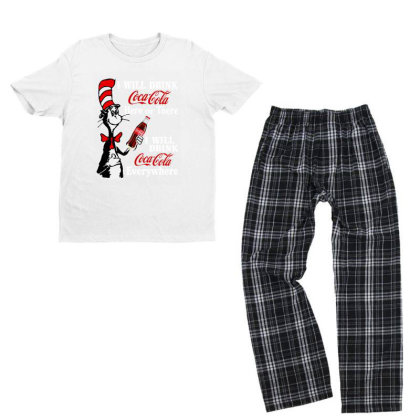 The Cat Drink Cola Youth T-shirt Pajama Set Designed By Pinkanzee