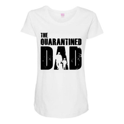 The Quarantined Maternity Scoop Neck T-shirt Designed By Pinkanzee