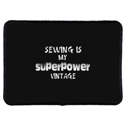 Superpower Vintage Rectangle Patch Designed By Pinkanzee