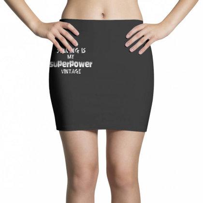Superpower Vintage Mini Skirts Designed By Pinkanzee