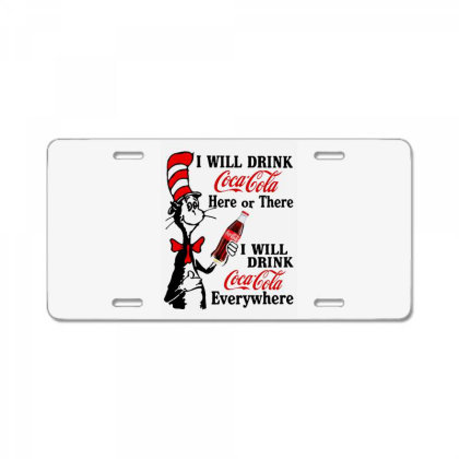 The Cat Drink Cola License Plate Designed By Pinkanzee