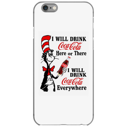 The Cat Drink Cola Iphone 6/6s Case Designed By Pinkanzee