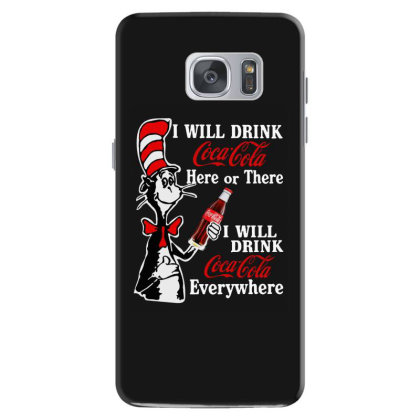 The Cat Drink Cola Samsung Galaxy S7 Case Designed By Pinkanzee