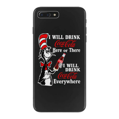 The Cat Drink Cola Iphone 7 Plus Case Designed By Pinkanzee