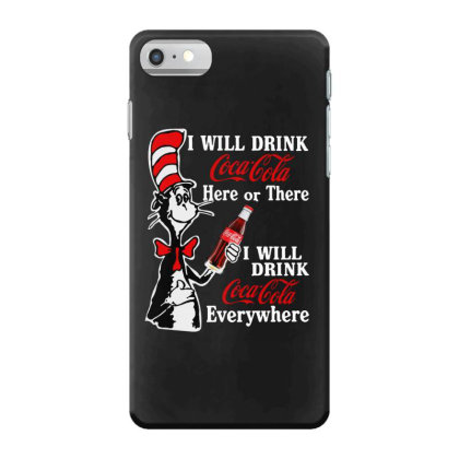 The Cat Drink Cola Iphone 7 Case Designed By Pinkanzee