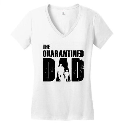 The Quarantined Women's V-neck T-shirt Designed By Pinkanzee