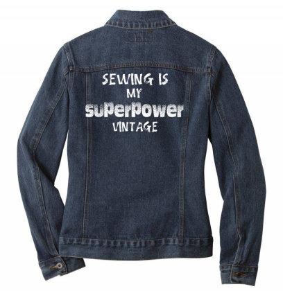 Superpower Vintage Ladies Denim Jacket Designed By Pinkanzee