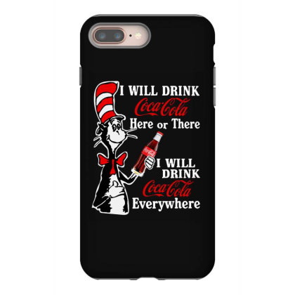 The Cat Drink Cola Iphone 8 Plus Case Designed By Pinkanzee