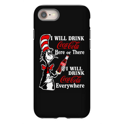 The Cat Drink Cola Iphone 8 Case Designed By Pinkanzee