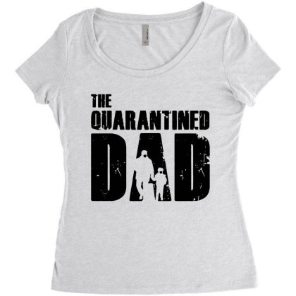 The Quarantined Women's Triblend Scoop T-shirt Designed By Pinkanzee