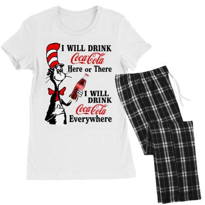 The Cat Drink Cola Women's Pajamas Set Designed By Pinkanzee