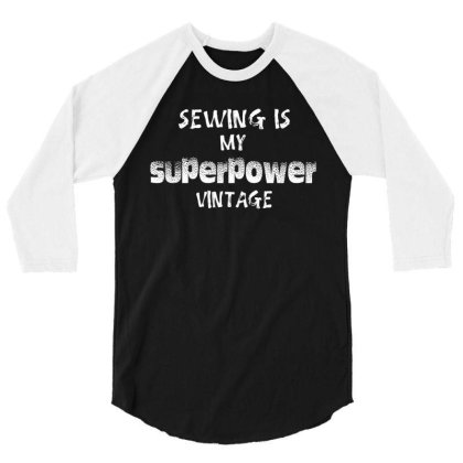 Superpower Vintage 3/4 Sleeve Shirt Designed By Pinkanzee