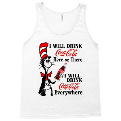 The Cat Drink Cola Tank Top Designed By Pinkanzee