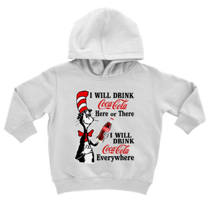 The Cat Drink Cola Toddler Hoodie Designed By Pinkanzee