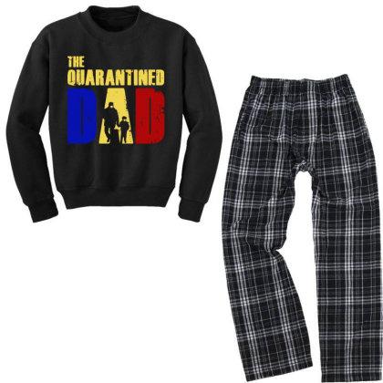 The Quarantined Quotes Youth Sweatshirt Pajama Set Designed By Pinkanzee