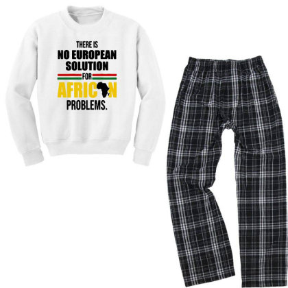 No Solution For African Youth Sweatshirt Pajama Set Designed By Pinkanzee