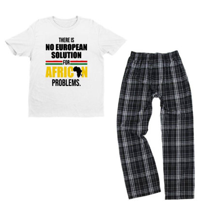 No Solution For African Youth T-shirt Pajama Set Designed By Pinkanzee