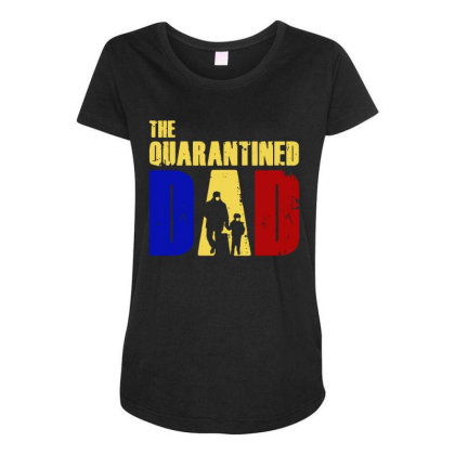 The Quarantined Quotes Maternity Scoop Neck T-shirt Designed By Pinkanzee