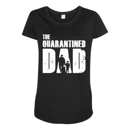 The Quarantined Vintage Maternity Scoop Neck T-shirt Designed By Pinkanzee