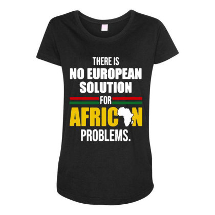 No  Solution For African Maternity Scoop Neck T-shirt Designed By Pinkanzee