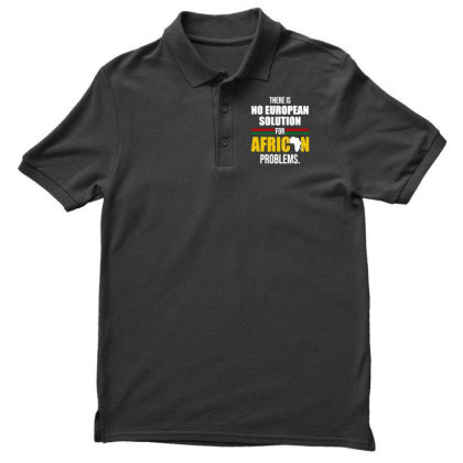 No  Solution For African Men's Polo Shirt Designed By Pinkanzee